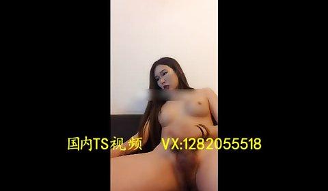 妖自慰射 Sexy beautiful transvestite 金娜娜 naked masturbation ejaculation