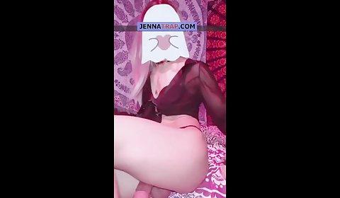 Sexy TGirl cumshot